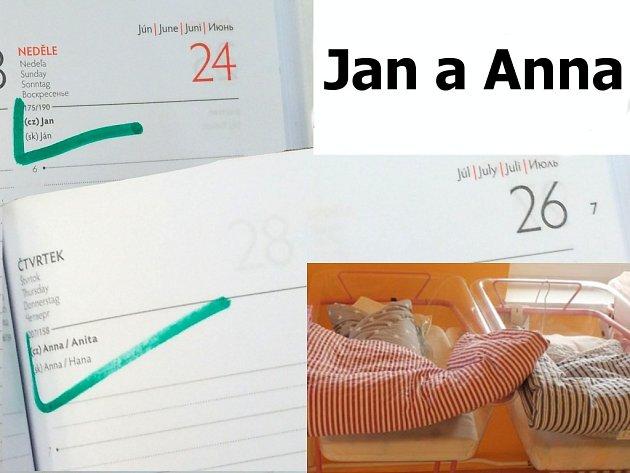 Na Jindřichohradecku byla vloni nejčastější jména pro narozené děti Jan a Anna.