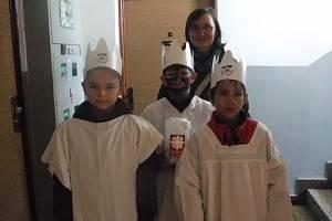 Tříkráloví koledníci vyrazili na obchůzku také v Suchdole nad Lužnicí.