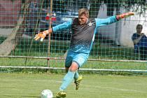 Brankář Buku Lukáš Vondrák udržel střelce Studené na uzdě a jeho tým se tak mohl radovat z výhry 3:0.