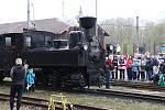 První jízda zrekonstruované parní lokomotivy U37.002 a její křest v Jindřichově Hradci.