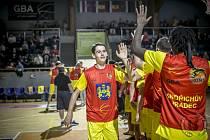 Štěpán Borovka přispěl k vítězství jindřichohradeckých basketbalistů 13 body.