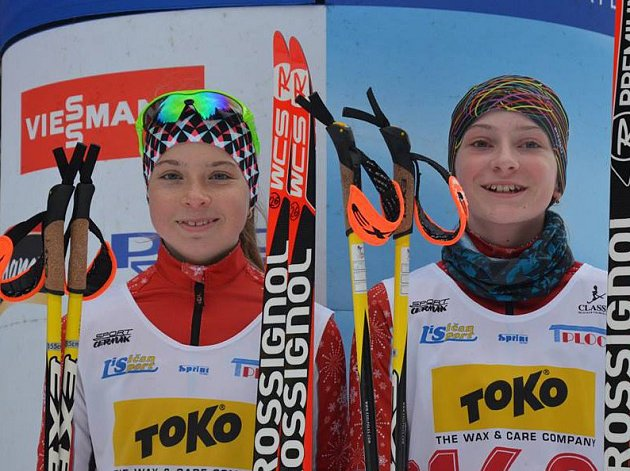 Šestou pozici vybojovaly na MČR v biatlonu Lenka Bártová a Veronika Novotná.
