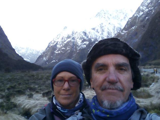 Milena a Josef Andrle se vypravili na jižní ostrov Nového Zélandu. Foto: archiv autorů
