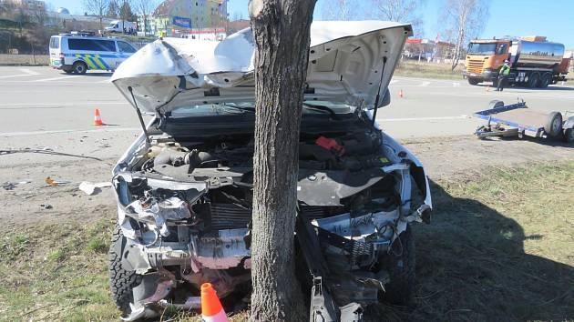 Středeční nehoda poblíž jindřichohradeckého Penny marketu.
