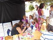 V sobotu se děti bavily na dačickém náměstí.