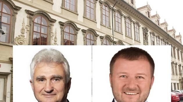 Za týden se v bitvě o Senát utkají současný senátor Milan Štěch, vlevo (ČSSD) a Jaroslav Chalupský (Svobodní).