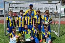 Žáci základní školy z Kardašovy Řečice zvítězili v okresním kole fotbalového McDonald´s Cupu v kategorii chlapců z 1. až 3. tříd.