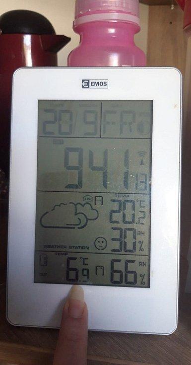 Podzimní mrazíky v Jihočeském kraji - Volyně