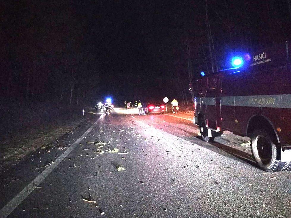 V noci zasahovali i dobrovolní hasiči z Jarošova nad Nežárkou a Nové Včelnice u spadlého stromu u Nekrasína na hlavním tahu z Jindřichova Hradce na Pelhřimov.