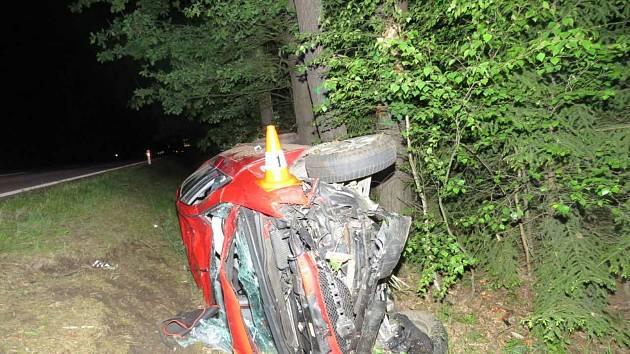 Opilá řidička narazila do stromů.