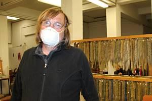 Majitel Ateliéru tapiserií v Jindřichově Hradci Jan Fidler.