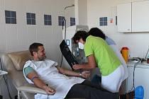 Transfuzní oddělení jindřichohradecké nemocnice.