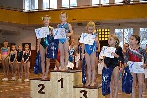 Gymnastky Slovanu získaly šest medailí