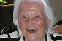 Marta Pokorná z Dačic oslavila 108. narozeniny. Je nejstarší Češkou.