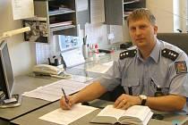 Zástupce obvodního oddělení v Nové Bystřici Martin Havel.