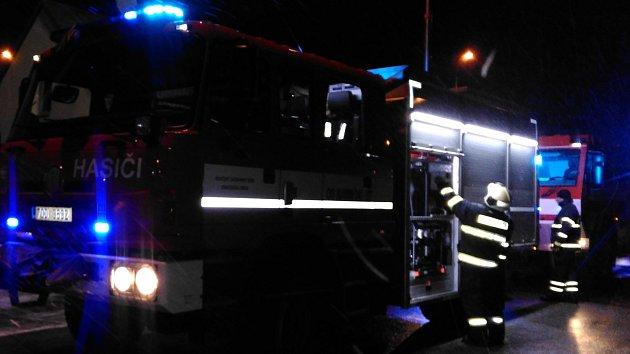 Požár v Denisově ulici v J. Hradci