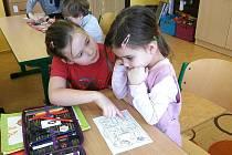 Předškoláci tradičně před zápisem do první třídy navštěvují 5. základní školu v Jindřichově Hradci.