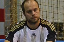 Hrající trenér třeboňských druholigových házenkářů Jaroslav Dušek. Foto: Jan Škrle