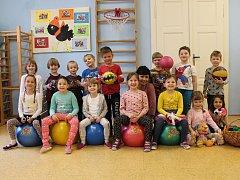 Děti ze Žluté třídy v 1. mateřské škole v Růžové ulici v Jindřichově Hradci.