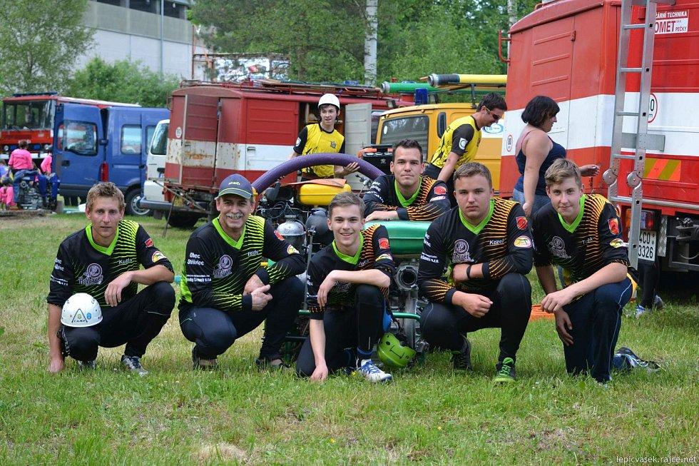 V Chlumu u Třeboně se běželo 3. kolo Velké ceny Třeboňska v požárním útoku.