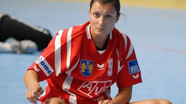 Levá spojka Zuzana Kupková.
