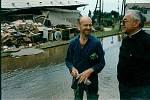 Povodně na Moravě v roce 1997 objektivem Deníku. Olomouc.