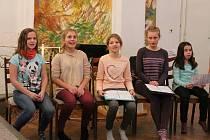 Na pódiu se ve středu 13. prosince představí i dětský pěvecký sbor ZUŠ.