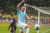 Jindřichohradecký útočník Kevin Strejček rozhodl jediným gólem utkání v Chebu.