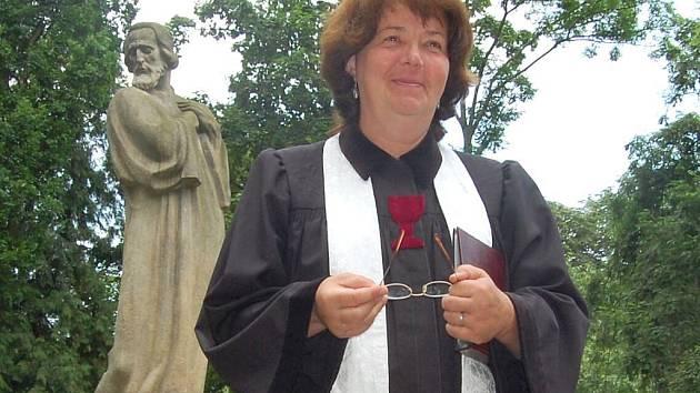 Farářka Československé husitské církve Jana Valsová.