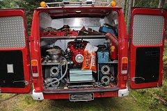 Auto, které odcizili dva bratři rakouským hasičům.