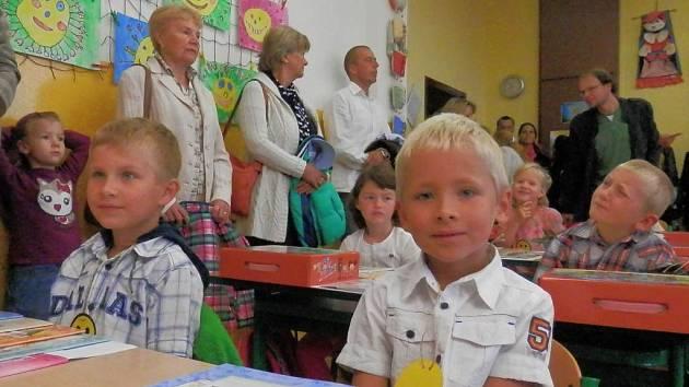 První školní den.