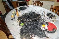 Adventní věnec způsobil požár v domě v Lásenici.