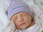 Viktorie Pospíchalová z Dačic se narodila 5. února v třebíčské porodnici. Měřila 49 centimetrů a vážila  2900 gramů.