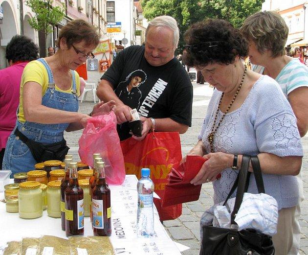 Farmářské trhy v Třeboni.