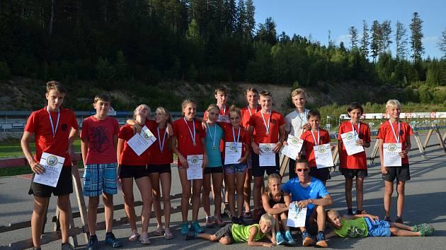 Úspěšná výprava staroměstských letních biatlonistů na šampionátu Bavorska.