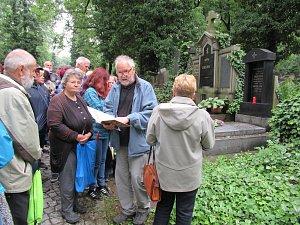 Přátelé starého Jindřichova Hradce u hrobu významné rodačky Adély Volfové