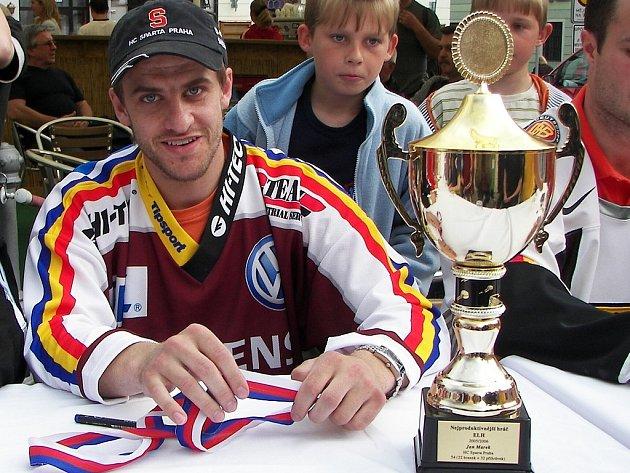Hokejista Jan Marek prožil s výjimkou nedávného mistrovství světa mimořádně úspěšnou sezonu, v níž se stal  v dresu Magnitogorsku mistrem Ruska. Přestože měl nabídku odejít do celku NHL Los Angeles Kings, zůstane i v další sezoně věrný svému týmu.
