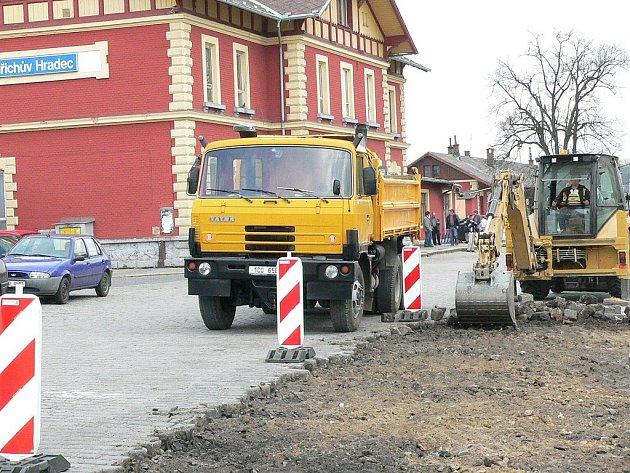 Rekonstrukce prostor před jindřichohradeckým nádražím