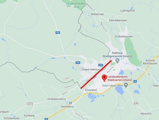 Mapa svyznačením hranic Ilustrační foto.