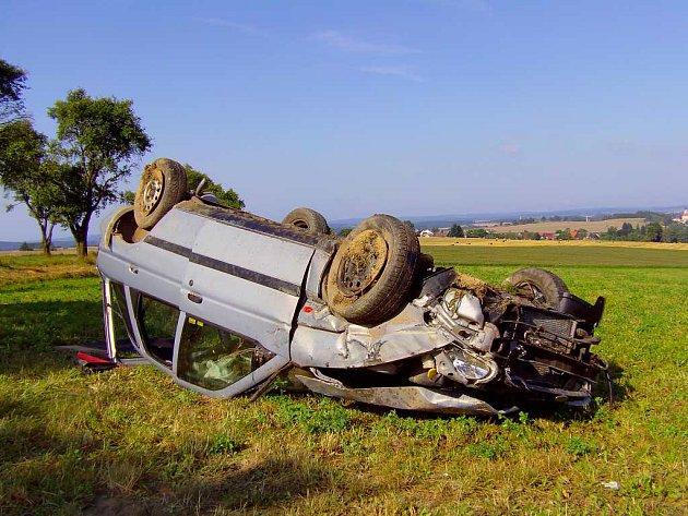 Vážná nehoda u Borku u Dačic.