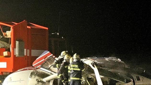 V pátek 5. 2. 2010 před 15. hodinou havaroval na hranicích Jihočeského kraje a kraje Vysočina mezi Horní Olešnou a Panskými Dubenkami na Jihlavsku vrtulník jihočeské letecké záchranné služby. Nehoda se obešla bez zranění.