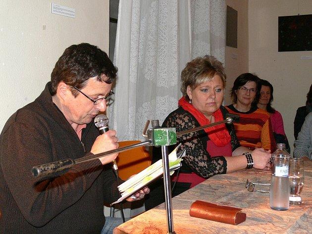 Autorské čtení Michala Viewegha v Jindřichově Hradci.