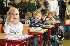 Uvítání prvňáčků v Základní škole Dačice Boženy Němcové.