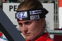 Biatlonistka Pavla Schorná ze Starého Města pod Landštejnem.