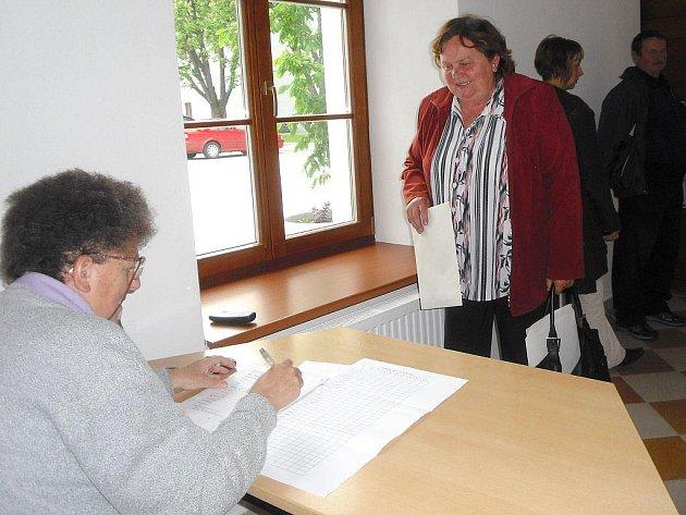 Mezi prvními na přebíracím místě v Třeboni byli zástupci z Libořez.