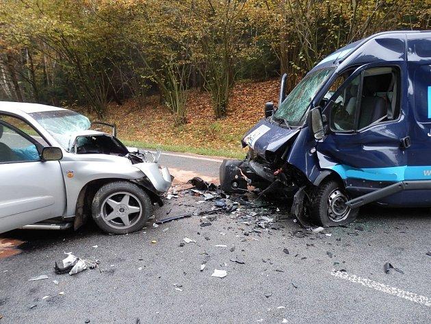 Tragická nehoda za J. Hradcem, jen pár desítek metrů za Kanclovským mostem ve směru na Pelhřimov