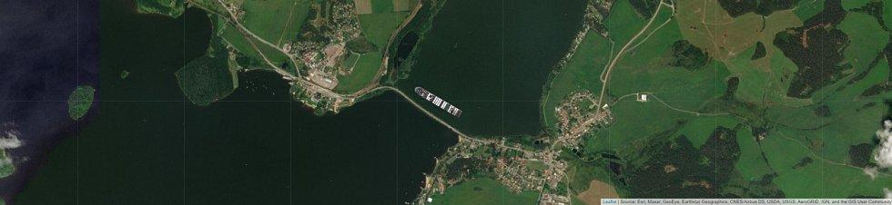 Jaké místo by obří kontejnerová loď Ever Given zabrala v Černé v Pošumaví?