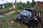 Na železničním přejezdu v Kardašově Řečici se střetlo osobní auto s osobním vlakem. Zraněného řidiče odvezla záchranka.