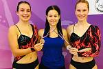 Děvčata z jindřichohradeckého oddílu AET Lena se představila na závodech v Lounech, odkud si přivezla i dvě bronzové medaile.