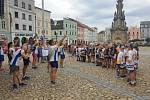 Peace Run štafetový běh s hořící pochodní, který se běží přes sto padesát zemí světa, měl zastávku v úterý 11. srpna na jindřichohradeckém náměstí.